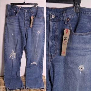 NWT Levi's 501 Original High Rise Straight Jeans